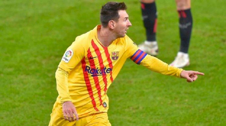 Dua Gol Messi Bawa Barca Raih Kemenangan atas Bilbao