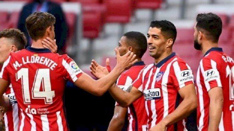 Dua Gol Suarez Bawa Atletico Madrid Kokoh Puncaki Klasemen