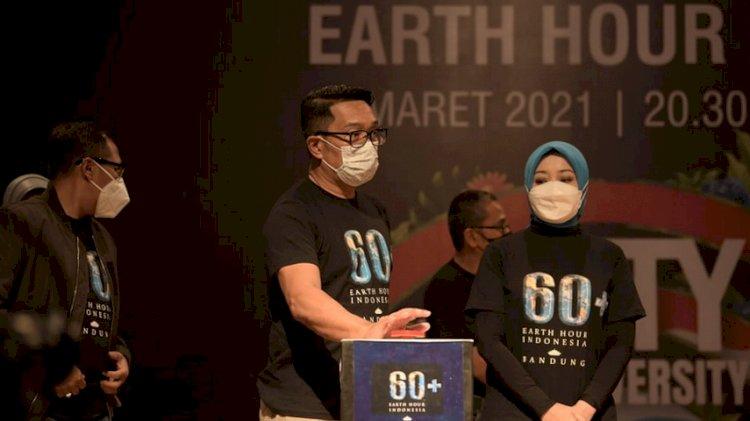 Ridwan Kamil: Earth Hour Simbol Bijak Menggunakan Energi
