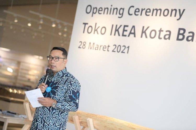 Ridwan Kamil Resmikan IKEA Kota Baru Parahyangan