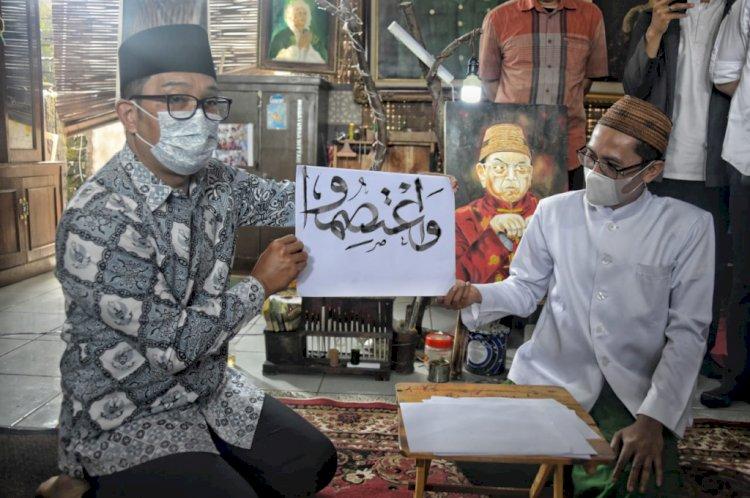 Gubernur Jabar Dorong Pengembangan Seni Kaligrafi di Pondok Pesantren