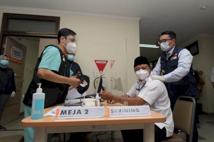 Vaksinasi Covid-19 Tahap Kedua di Jawa Barat