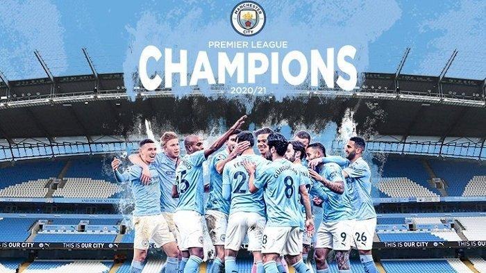 Manchester City Resmi Juara Liga Inggris 2020-2021