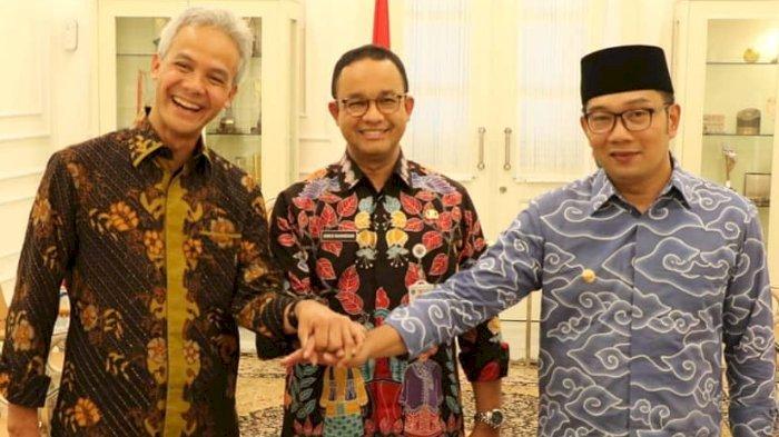 Anies Baswedan, Ganjar Pranowo, Ridwan Kamil, Siapa Paling Kuat Maju Pilpres 2024?