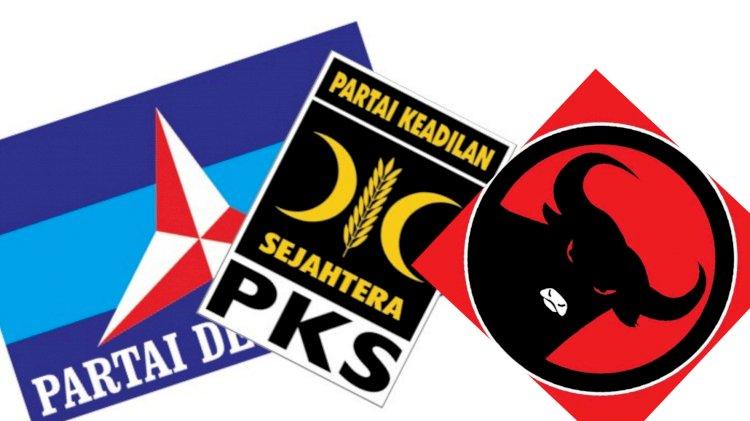 Hasto sebut PDIP Tegas Tolak Koalisi, ini Reaksi  Partai Demokrat dan PKS