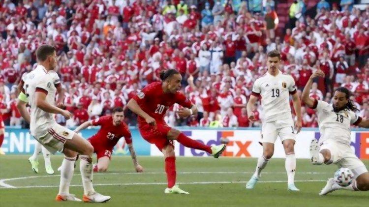 Menang 2-1 Atas Denmark, Belgia Susul Italia ke Babak 16 Besar