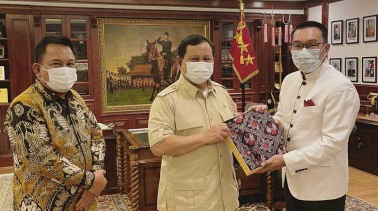 Bertemu Prabowo, Ridwan Kamil Akui Ada Obrolan Politik