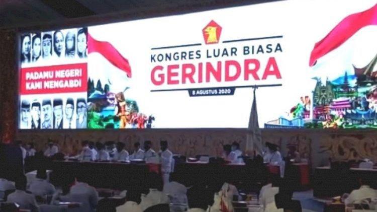 Prabowo Pimpin Kembali Partai Gerindra Periode 2020-2025.