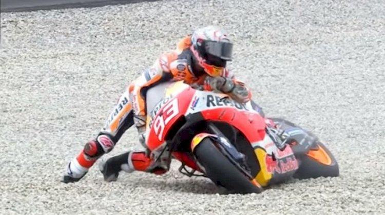 Marquez Alami Kecelakaan Fatal di FP2 MotoGP Belanda, Vinales Tercepat