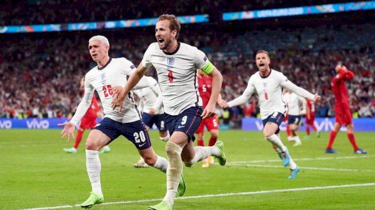 Menangkan Duel Seru Lawan Denmark 2-1,  Inggris Jumpa Italia di Final Euro 2020