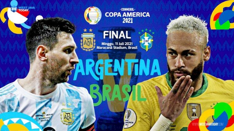 Jadwal Siaran Langsung dan Ulasan Final Copa America 2021: Brasil Vs Argentina