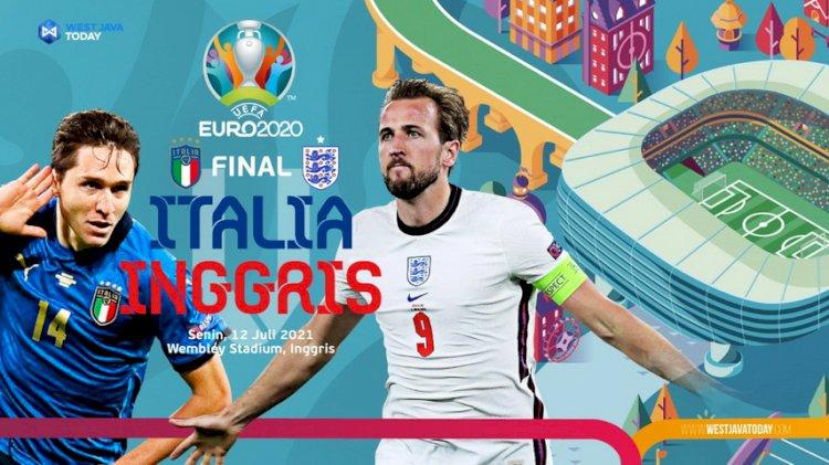 Jadwal Siaran Langsung dan Ulasan Final Euro 2020: Inggris Vs Italia