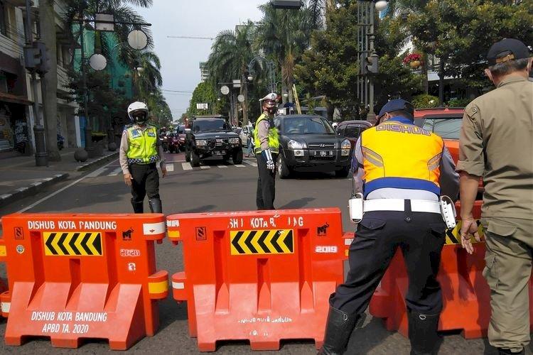 Turunkan Mobilitas, Penutupan Jalan  kota Bandung  Diperluas