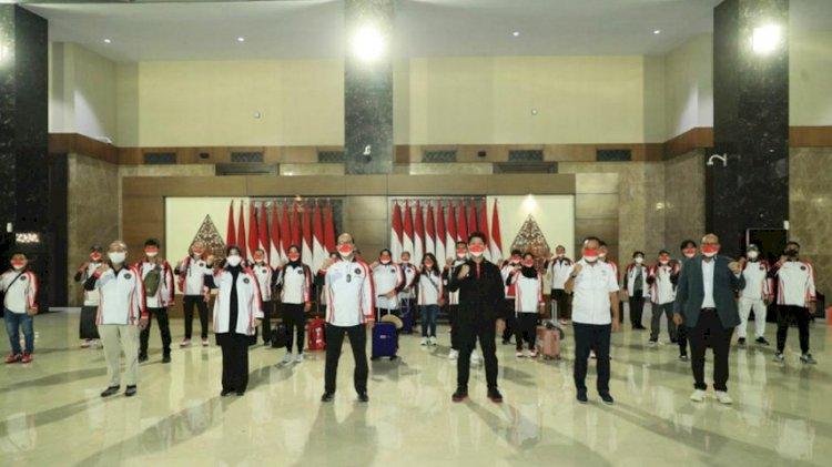Bertolak ke Tokyo, Kontingen Olimpiade Indonesia Minta Dukungan Masyarakat