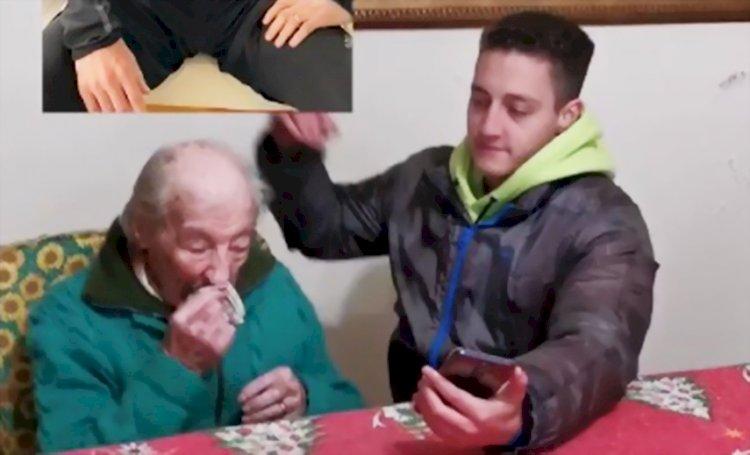 Penggemar Berat Berusia 100 Tahun Curi Perhatian Messi di TikTok