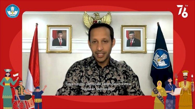 Lomba 'Rayakan Merdekamu', Mendikbudristek Ajak Masyarakat Ikut Sambut HUT RI ke-76