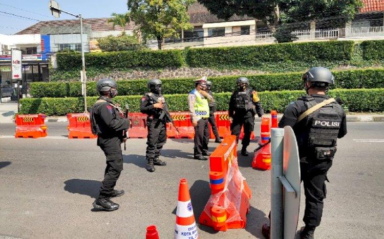 Penyekatan Idul Adha di Kota Bandung, Polda Jabar Kerahkan Brimob Bersenjata