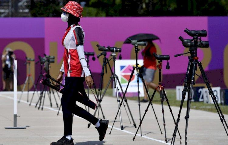 Langkah Tim Panahan Pasangan Putri Terhenti di Babak Perempatfinal
