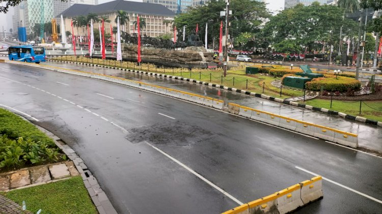 Jelang Sore, Belum Nampak Massa Demo 'Jokowi End Game'