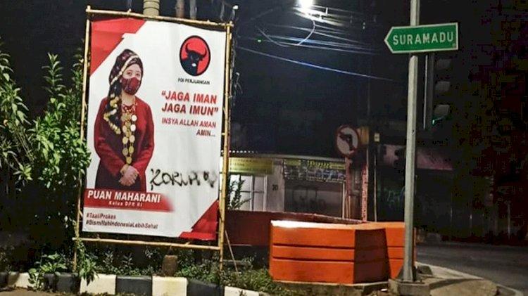 Baliho Puan Maharani Jadi Korban Vandalisme di Jatim, PDIP Bakal Lapor Polisi