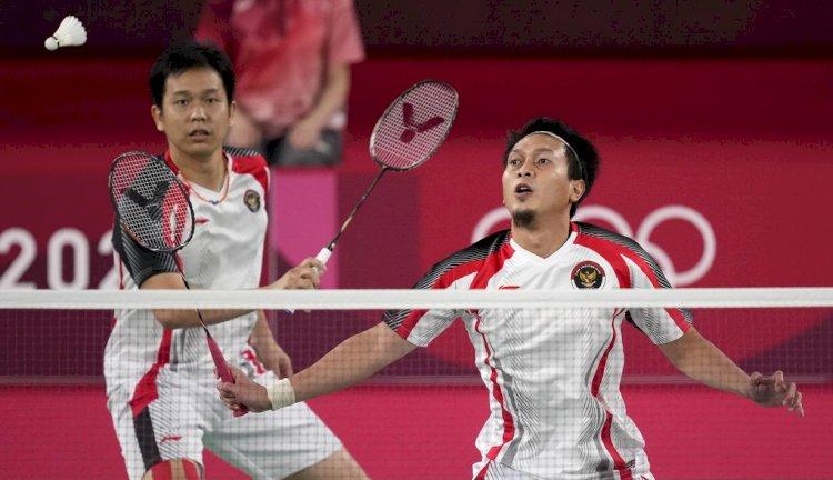 Pupus, Pasangan Ganda Putra Ahsan/Hendra Terhenti pada Semifinal Olimpiade Tokyo