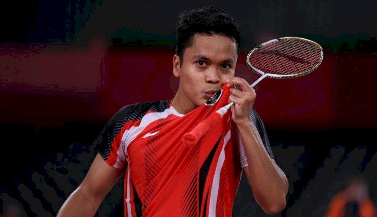 Pebulutangkis Tunggal Putra Anthony Ginting Melaju ke Semifinal Olimpiade Tokyo