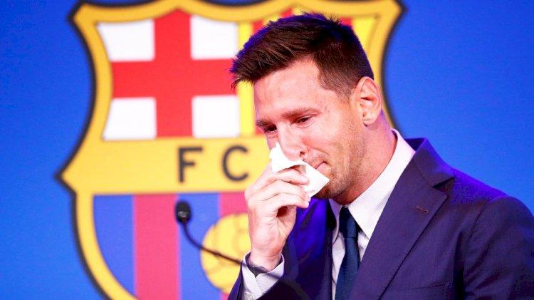 Legenda Barcelona, Lionel Messi Berlinang Air Mata Ucapkan Salam Perpisahan