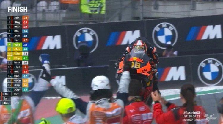 MotoGP Austria: Gambling tak Ganti Ban saat Hujan, Binder Juara