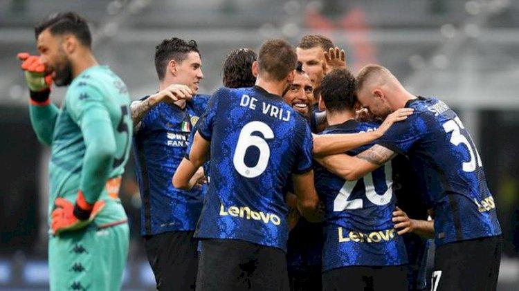 Hasil Pertandingan dan Klasemen Liga Italia: Inter Hajar Genoa 4-0