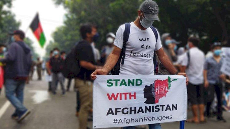 Gelar Demo di Jakarta, Pengungsi Afghanistan: Kami Putus Asa