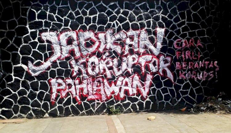 Grafiti Sindir Ketua KPK Firli Bahuri di Bandung, Ini Kata Satpol PP