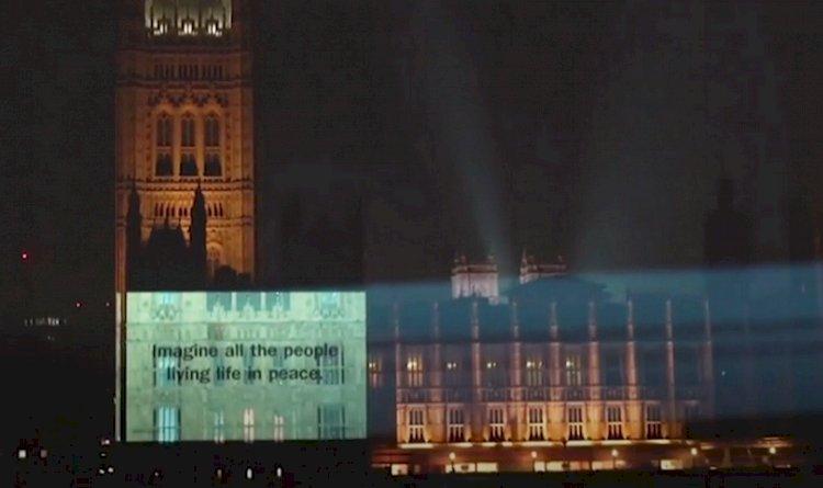 Peringati 50 Tahun, Lirik Lagu 'Imagine' John Lennon Terpampang di Pelosok Dunia