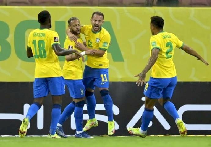 Ribeiro dan Neymar Cetak Gol, Pastikan Kemenangan Brazil Atas Peru 2-0