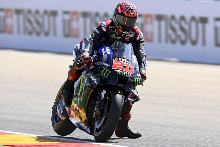 Hasil FP3 MotoGP Aragon 2021: Quartararo Tercepat, Marquez Jatuh