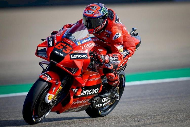Hasil Kualifikasi MotoGP Aragon: Bagnaia Pole Position