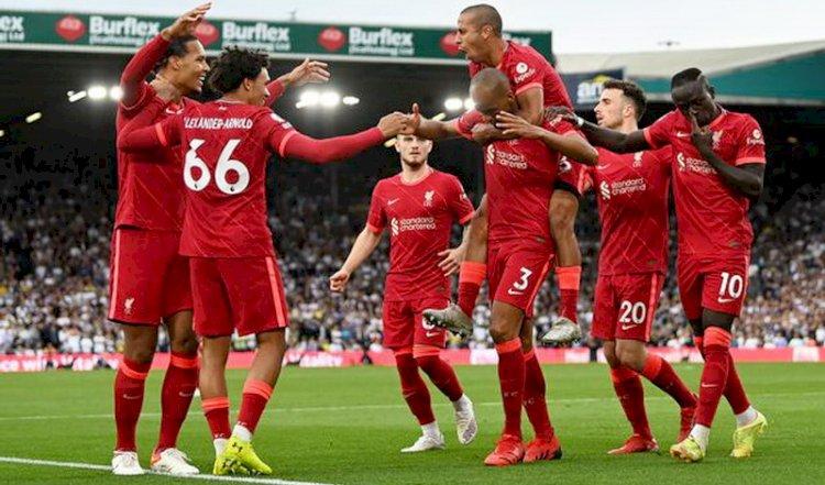 Liverpol Ramaikan Persaingan Tiga Besar Usai Menang 3-0 atas Leeds