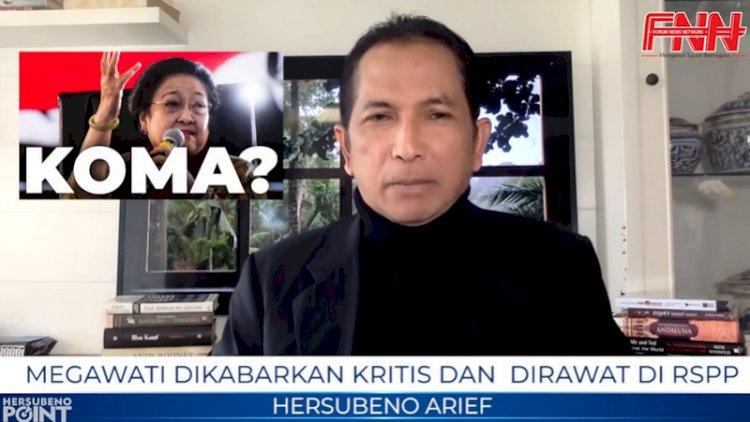 Kabarkan Megawati Koma, Youtuber Hersubeno Arief Dilaporkan ke Polisi