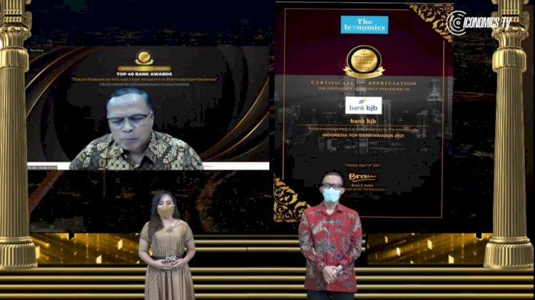 bank bjb Raih Penghargaan Top Bank Awards 2021 dari The Iconomics