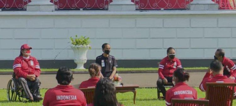 Jokowi Sambut Kedatangan Atlet Paralimpiade di Istana Bogor