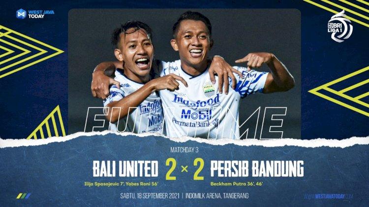 Persib vs Bali United :  Unggul Jumlah Pemain Maung Bandung Imbang 2-2