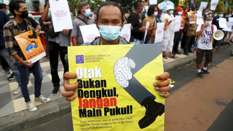 AJI Minta Jaksa Tahan Dua Terdakwa Penganiaya Jurnalis Tempo di Surabaya