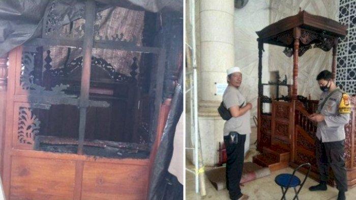 Pemerintah  Mengutuk Keras Pembakar Mimbar Masjid Raya Makassar