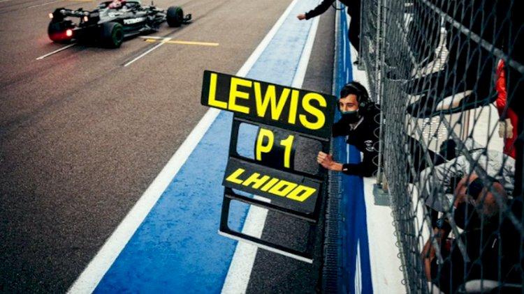 Lewis Hamilton Catatkan Kemenangan ke-100 Usai Juara di GP Rusia