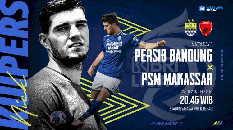 Persib Bandung vs PSM Makassar Malam ini, Ezra Walian Siap Tampil
