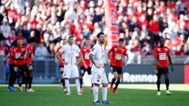 Liga Prancis: Messi tak Berkutik, PSG Dikalahkan Rennes 2-0