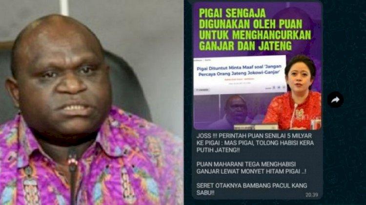 Natalius Pigai Bantah Gambar yang Sebut Dirinya Dibayar Puan Maharani Rp5 Miliar untuk Serang Ganjar