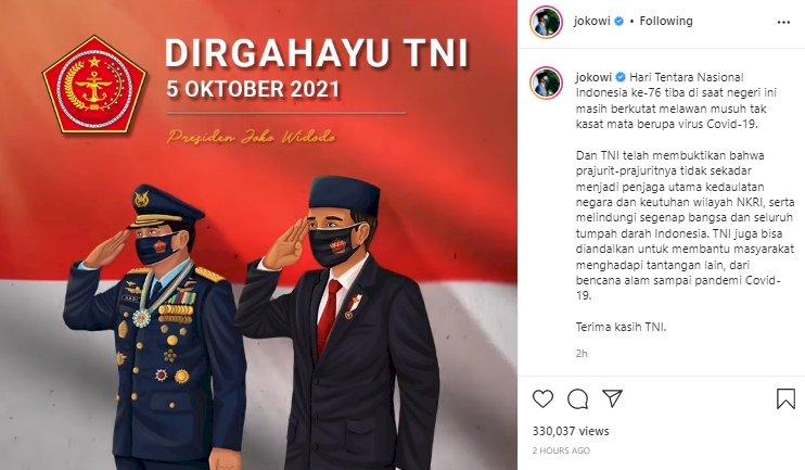 Selamat Hari Ulang Tahun ke-76 Tentara Nasional Indonesia