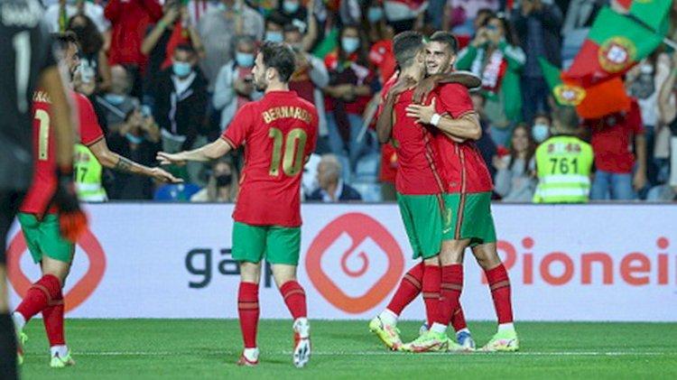 Laga Persahabatan: Portugal 3-0 Qatar