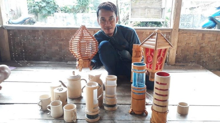 Kementerian Koperasi dan UKM Siap Kembangkan Pasar Produk Bambu Sukabumi