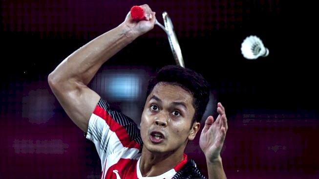 Ginting Buka Keunggulan Indonesia 1-0 atas Taiwan di Piala Thomas